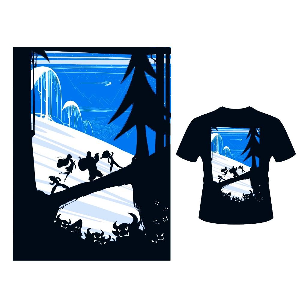 Тениска - По пътя към златната ябълка